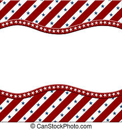 czerwony, biały i błękitny, amerykanka, celebrowanie, ułożyć, dla, twój, wiadomość, albo, zaproszenie, z, copy-space, pośrodku