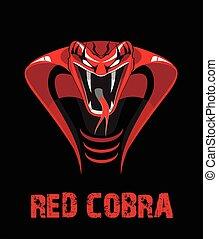czerwony, cobra.eps