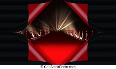 czerwony dywan, światła