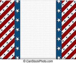 czerwony i biały, amerykanka, celebrowanie, ułożyć, dla, twój, wiadomość, albo, zaproszenie, z, copy-space, pośrodku