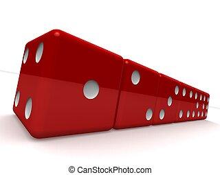 czerwony, jarzyna pokrajana w kostkę