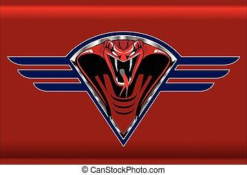 czerwony, kobra