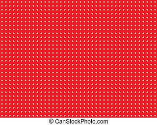czerwony, kropka polki