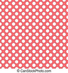 czerwony, kropkuje, próbka, seamless