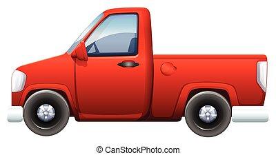 czerwony, pickup