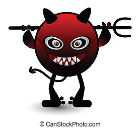 czerwony, potwór