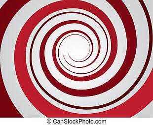 czerwony, spirala