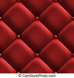 czerwony, tapicerka