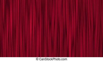 czerwony, teatr, kurtyna, falować