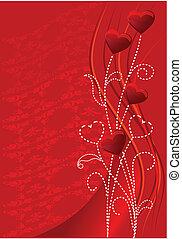 czerwony, valentine