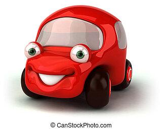 czerwony wóz