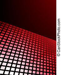czerwony, waveform, wektor, tło., eps, 8