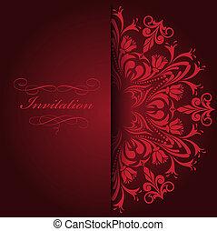 czerwony, zaproszenie