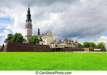 czestochowa, santuario, lugar, gora, más, peregrinación, ...