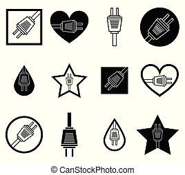 czop, formułować, ikony