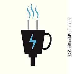 czop, kawa, zasilany