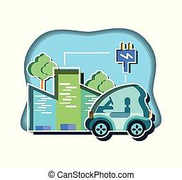 czop, wóz, zabudowanie, elektryczna energia