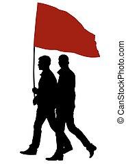 cztery, bandery, ludzie