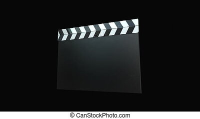 cztery, -, clapperboard, film, animations+alpha.