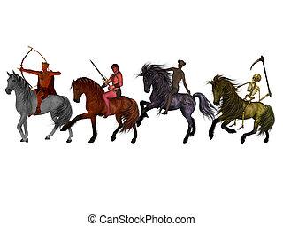 cztery, horsemen.