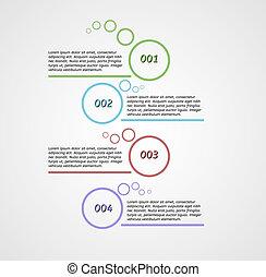 cztery, kroki, infographics