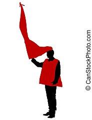 cztery, odrobina, ludzie, bandera, anarchia