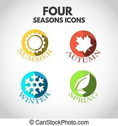 cztery pory, ikony