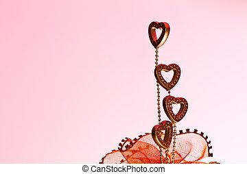 cztery, serca, -, valentine