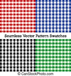 cztery, swatches, tablecloth, seamless, wzory
