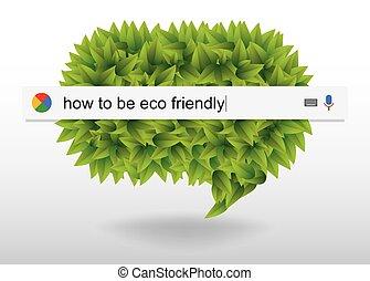 czuć się, o, sieć, eco, badawczy, informacja, wektor, jak, przyjacielski