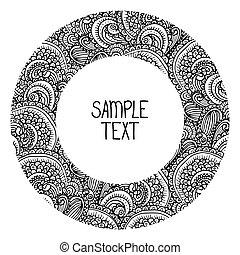 czuć się, używany, afisz, karta, próbka, plemienny, text., abstrakcyjny, okrągły, wektor, miejsce, sieć, ułożyć, etniczny, design., twój, może