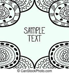 czuć się, używany, afisz, karta, próbka, plemienny, text., seamless, abstrakcyjny, etc, wektor, miejsce, może, tło, etniczny, twój