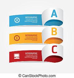 czuć się, wektor, nowoczesny, /, infographic, używany, może, szablon, infographics, projektować
