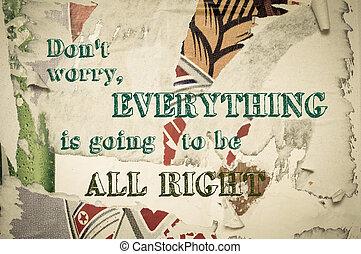 czuć się, wszystko, dobry, dont, -, wszystko, chodzenie,...