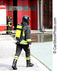 czyn, firefighter, 2, zbiornik, tlen
