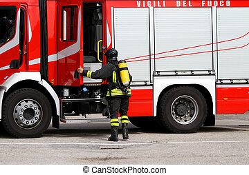 czyn, firefighter, 3, zbiornik, tlen