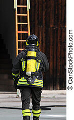 czyn, firefighter, 5, zbiornik, tlen