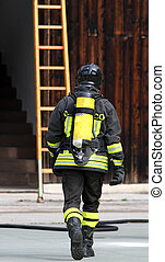 czyn, firefighter, zbiornik, 4, tlen