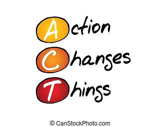 czyn, rzeczy, zmiany