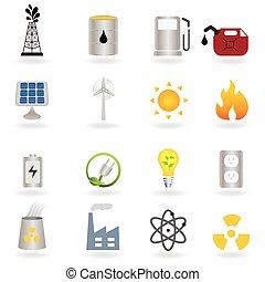 czysty, alternatywna energia, i, środowisko