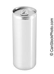 czysty, aluminium może, napój
