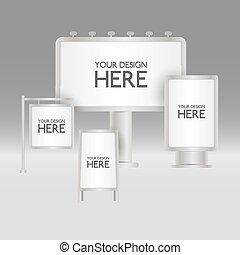 czysty, deski, znak