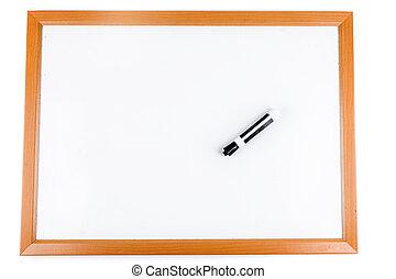 czysty, obeschnięcie wycierają deskę, z, markier