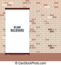 czysty, reklama, billboard.