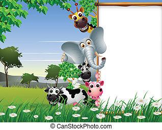 czysty, rysunek, zwierzę, znak