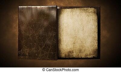 czysty, stary, książka