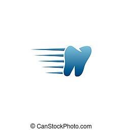 czysty, stomatologiczny, ząb, projektować, szablon, logo