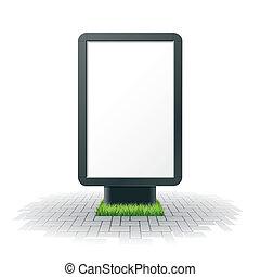 czysty, tablica ogłoszeń, reklama