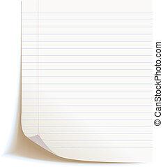 czysty, worksheet, zeszyt