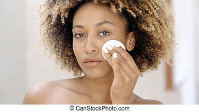czyszcząca kobieta, młody, skóra
